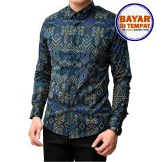 Kemeja Batik Songket Pria Slimfit / Kemeja Batik Kerja Baju batik kantor