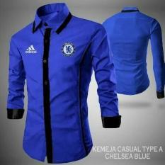 Beli Kemeja Casual Bola Chelsea Biru Nyicil