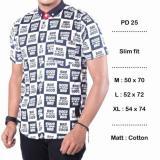 Jual Kemeja Casual Kantor Formal Batik Songket Pd25 Gbb Navy Short Sleeve Branded Original