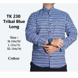 Beli Kemeja Casual Pria Lengan Panjang Tk230 Tribal Blue Baru
