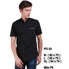 Harga Kemeja Cowok Lengan Pendek Slim Fit Po 03 Lengkap