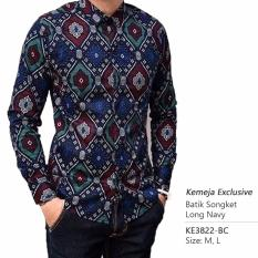 Spesifikasi Kemeja Exclusive Batik Slimfit Lengan Panjang Navy Online
