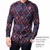 Beli Kemeja Exclusive Batik Slimfit Lengan Panjang Purple Kredit Jawa Barat
