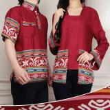 Jual Beli Online Kemeja Fashion Fashion Couple Motif Batik Slimfit Zi Couple Red