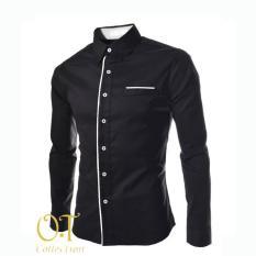 Jual Cannice Kemeja Fashion Pria Peter Long Sleeve Black Branded