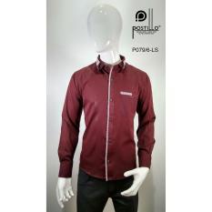 Kemeja Fashion Pria Slim Fit Postillo P079-6-LS