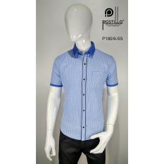 Kemeja Fashion Pria Slim Fit Postillo P190-9-SS