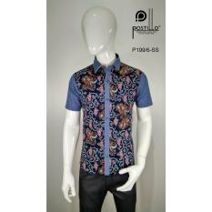 Kemeja Fashion Pria Slim Fit Postillo P199-6-SS