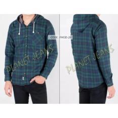 Kemeja Flanel Model Jaket Sweater Hoodie Kupluk