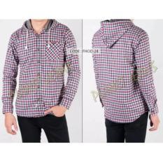 Kemeja Flanel Model Jaket Sweater Hoodie Kupluk Cowok Lengan Panjang Dan Motif Kotak Bahan Flannel