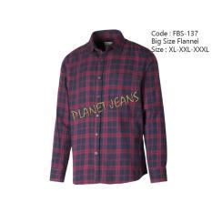 Kemeja Flanel Pria Big Size / Flannel Lengan Panjang Jumbo Cowokfbs137 - D593dc