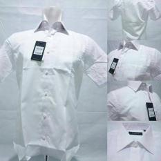Kemeja Formal Putih Polos The Executive / Kemeja Kerja Lengan Pendek Slim Fit Pria