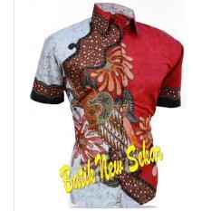Kemeja Hem Batik Pria Lengan Pendek Motif New Sekar Batik Pekalongan
