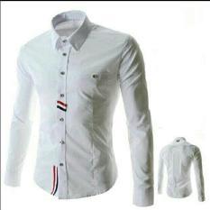 Kemeja Icko Putih Fashion Pria Atasan Hem Baju Cwo