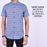 Harga Kemeja Kasual Pria Short Blue Cotton Lengan Pendek Dki Jakarta