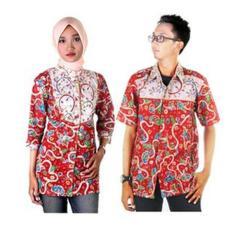 Kemeja | Koko | Baju Batik | Batik Couple Sarimbit Blus Batik Adijaya