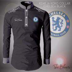 Kemeja Koko Collar Type Chelsea Black