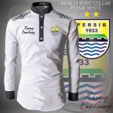 Jual Kemeja Koko Collar Persib White Branded Original