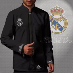 Kemeja Koko Long Sleeve Type A Madrid Black Indonesia Diskon 50