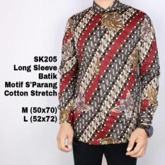 Harga Kemeja Lengan Panjang Batik Modern Sk205 Motif Parang Vin C Online