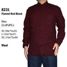 Kemeja Lengan Panjang Flanel Merah Hitam - 8231