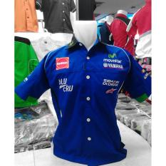 Kemeja MotoGP Yamaha Movistar Biru import