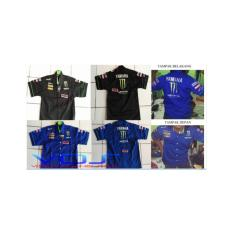 Kemeja MotoGP Yamaha Movistar Biru(baju olahraga,baju sport,otomotif)