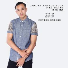 Spesifikasi Kemeja Pendek Biru Muda Mix Batik The Most Termurah Terlaris Kemeja Kerja Kantor Santai Pria Casual Keren Pria Beli Bajau Kaos Distro Bandung Atasan Cowok Murah Berkualitas