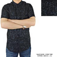 Baju Kemeja Baju Batik PENDEK KANTOR COWOK FORMAL BATIK BUNGA FLORAL SOFT