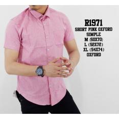 Spesifikasi Kemeja Pendek Pria Warna Pink Bahan Oxford Yang Bagus Dan Murah