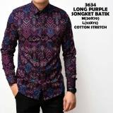Kemeja Batik Songket Murah Baju Resmi Cowok Slimfit Batik Songket Pria Distro Premium 3634 Tidak Ada Merek Diskon 50