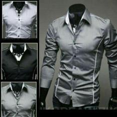 Kemeja Pria Bryan Silver Black Stelan Blazer Jaket Celana Kain Levis - Zhxf9j