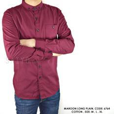 Harga Kemeja Pria Cotton Premium Polos Kemeja Formal Kemeja Kantor Kemeja Kuliah Satu Set
