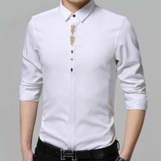 Kemeja Pria Lengan Panjang Adam Baju Formal Slimfit - [Putih]