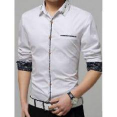 Kemeja Pria Lengan Panjang Cooper Baju Formal Slimfit - [Putih]
