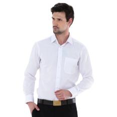 Harga Kemeja Pria Alisan Lengan Panjang Polos Slim Fit Putih Alisan North Sumatra