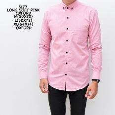 Beli Kemeja Pria Lengan Panjang Polos Warna Pink Slim Fit Ninenine Murah