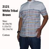 Jual Kemeja Pria Lengan Pendek Casual Kantoran Putih 2121 With Tribal Online Dki Jakarta