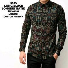 Jual Kemeja Pria Long Black Songket Batik Ori