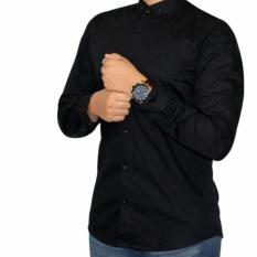 Kemeja Pria Polos Lengan Panjang Baju Kemeja Fomal Cowok Exclusive Hitam