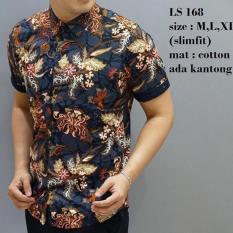 Jual Kemeja Pria Slim Fit Ls168 Asli Batik Pria Slimfit Mixtomax Slimfit Branded
