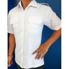Kemeja Putih PNS Wanita Lengan Pendek - Baju Seragam PNS/ ASN/ Honorer Putih