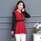 Jual Beli Online Atasan Sifon Renda Baju Dalaman Kemeja Kecil Elegan Merah