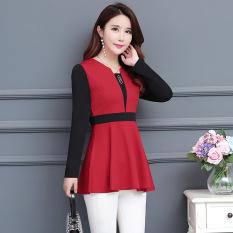 Toko Atasan Sifon Renda Baju Dalaman Kemeja Kecil Elegan Merah Online Di Tiongkok