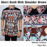 Beli Kemeja Short Batik Shoulder Brown Cokelat Idfashionhunter Murah