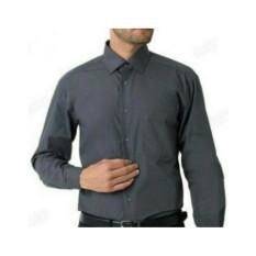 Kemeja Slimfit Formal Lengan Panjang Abu Tua  Abu Abu / Baju Kerja Pria Cowok Kantor Bisnis Formal / Baju Alisan Lengan Panjang Slimfit / Baju Casual Pria - Kuliah Kampus