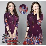 Beli Kemeja Tunik Jumbo Fashion Muslim Rayon Flower Kyoko Marun Murah
