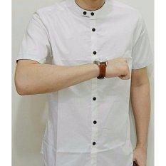 Kemura-Kemeja Koko Premium Mat Putih Polos Simple