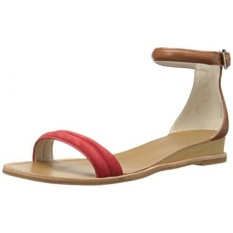 Kenneth Cole New York Womens Jenna Flat Sandal, Red/Cognac, US - intl