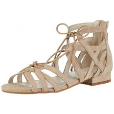Kenneth Cole New York Womens Valerie Flat Sandal, Almond, KAMI-Internasional